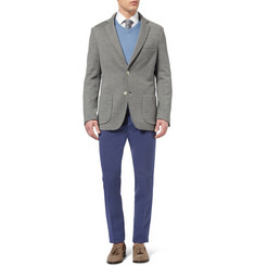 Loro Piana Slim-Fit Pleated Cotton and Linen-Blend Trousers