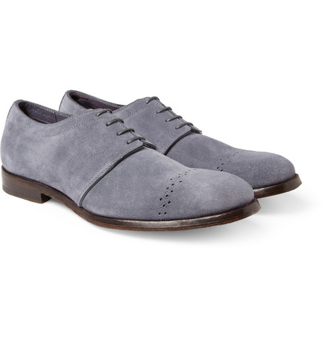 Alexander McQueen Suede Derby Shoes