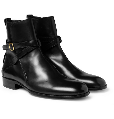 Alexander McQueen Leather Buckle Boots