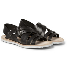Alexander McQueen Vibram Rubber-Soled Leather Sandals