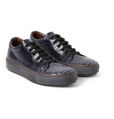 Acne Studios Adrian Glazed Elaphe Low Top Sneakers