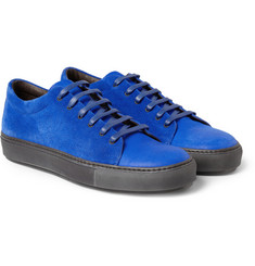 Acne Studios Adrian Nubuck and Suede Low Top Sneakers