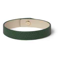 Valextra Pebbled-Leather Bracelet