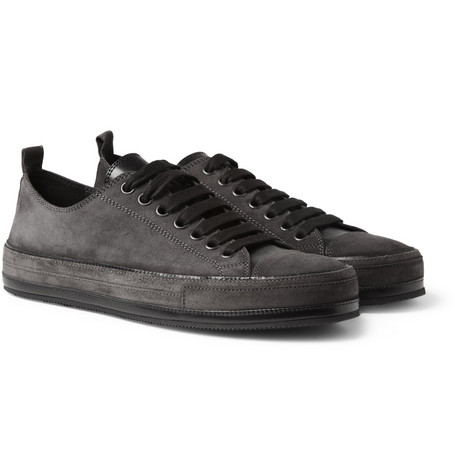 Ann Demeulemeester Suede Low Top Sneakers