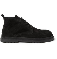 Ann Demeulemeester Black Suede Lace-Up Boots