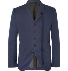 Ann Demeulemeester Slim-Fit Pin-Dot Woven-Cotton Blazer