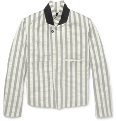 Ann Demeulemeester Slim-Fit Striped Cotton-Blend Jacket