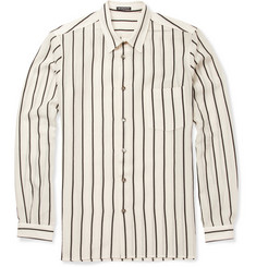 Ann Demeulemeester Striped Cotton-Blend Shirt