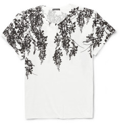 Ann Demeulemeester Rubberised-Print Cotton T-Shirt