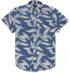 J.Crew Printed Cotton-Twill Short-Sleeved Shirt