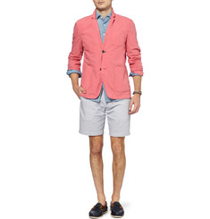 J.Crew Stanton Striped Cotton and Linen Shorts