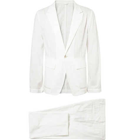 Ann Demeulemeester Unstructured Woven-Cotton Suit