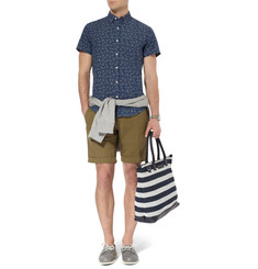 J.Crew Flower-Print Cotton-Chambray Short-Sleeve Shirt