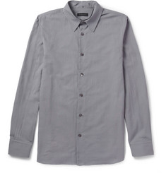 Ann Demeulemeester Convertible-Collar Woven-Cotton Shirt