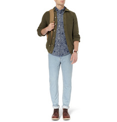 J.Crew Printed Button-Down Collar Cotton-Chambray Shirt