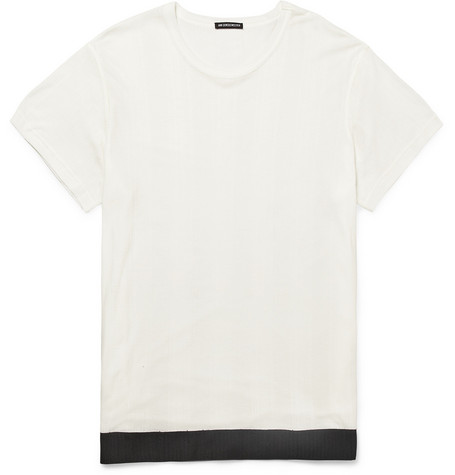 Ann Demeulemeester Fine Striped Lyocell and Cotton-Blend T-Shirt