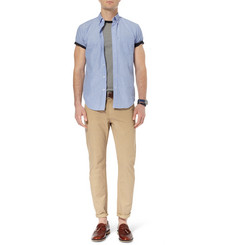 J.Crew Button-Down Collar Cotton-Chambray Shirt