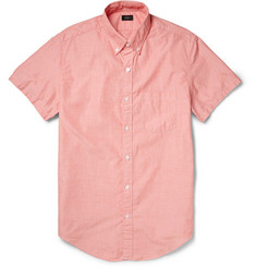 J.Crew Button-Down Collar Cotton Short-Sleeve Shirt