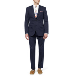 J.Crew Ludlow Slim-Fit Stitched-Dot Cotton-Blend Suit Trousers