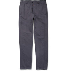 Maison Martin Margiela Slim-Fit Cotton and Linen-Blend Trousers