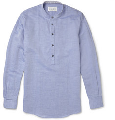Maison Martin Margiela Collarless Linen-Blend Shirt