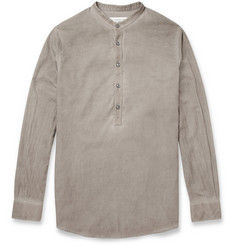 Maison Martin Margiela Garment-Dyed Cotton Grandad Collar Shirt