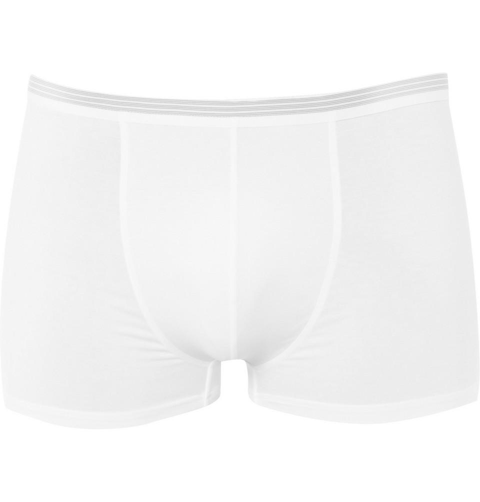 Pure Comfort Stretch-cotton Boxer Briefs - White