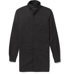 Rick Owens Slim-Fit High-Neck Cotton Shirt