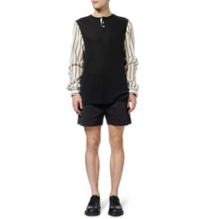 Rick Owens Cotton-Blend Canvas Shorts
