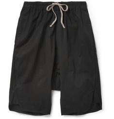 Rick Owens Long-Length Cotton-Blend Shorts