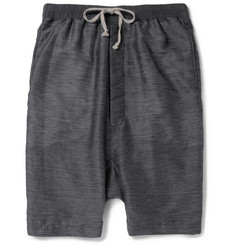 Rick Owens Drop-Crotch Textured Shorts