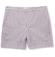 Band of Outsiders Striped Woven-Cotton Shorts