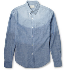 Band of Outsiders Degradé Cotton-Chambray Shirt