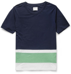 Band of Outsiders Panelled Cotton-Piqué T-Shirt