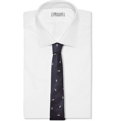 Band of Outsiders Jacquard-Woven Silk-Twill Tie