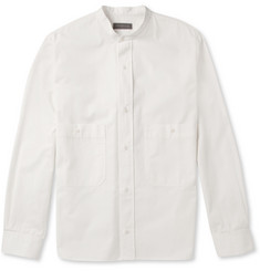Christophe Lemaire Grandad-Collar Cotton-Twill Shirt