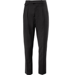 Christophe Lemaire Double-Pleated Wool and Cotton-Blend Trousers