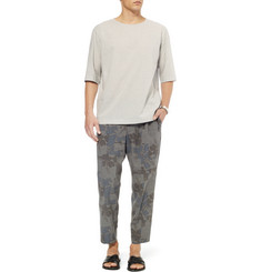 Kolor Cropped Flower-Print Wool Trousers