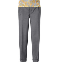 Kolor Printed Cotton and Wool-Blend Trousers