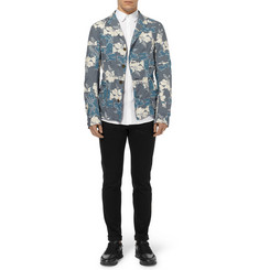 Kolor Unstructured Floral-Print Cotton Blazer