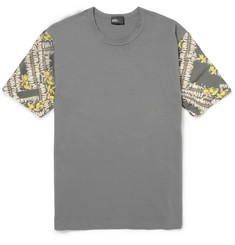 Kolor Contrast-Sleeve Cotton-Jersey T-Shirt