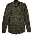 Gucci Slim-Fit Floral-Print Silk-Blend Twill Shirt