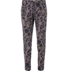 Gucci Slim-Fit Flower-Print Cotton-Blend Trousers