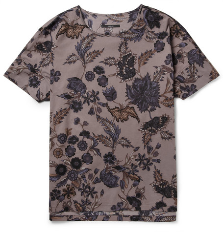 Gucci Floral-Print Cotton-Poplin Shirt