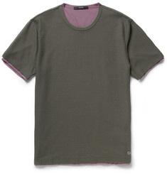 Gucci Double-Layered Mesh and Crepe T-Shirt