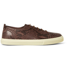 Gucci Python Low-Top Sneakers