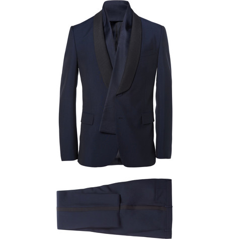 Valentino Navy Slim-Fit Wool-Blend Tuxedo