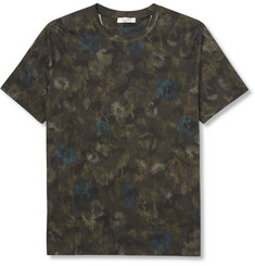 Valentino Flower and Camouflage-Print Cotton-Jersey T-Shirt