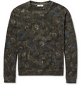 Valentino - Flower and Camouflage-Print Cotton-Jersey Sweatshirt