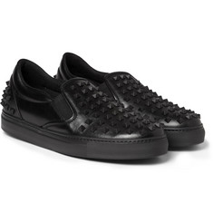 Valentino Studded Leather Slip-On Sneakers